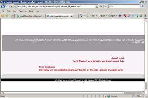 Telecom Egypt bill inquiry service still down