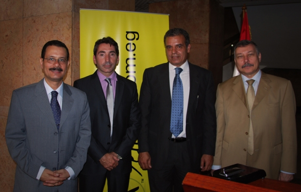 From left to right: Dr. Darwish, Marc Lambert, Hossam Ragheb and Dr. Ahmed Samir