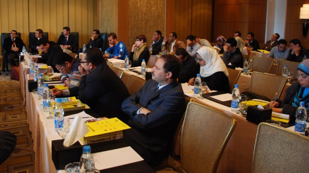 Journalists and reporters attending the Yellow Pages event