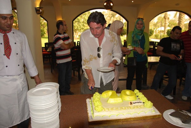 Marc Lambert - Egypt Yellow Media Managing Director cutting the cake