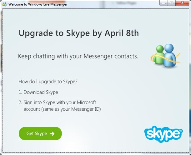 RIP Windows Live Messenger