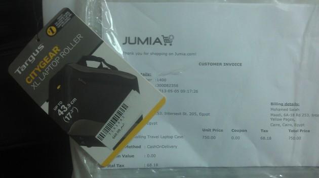Jumia - Rolling travel laptop case real market price
