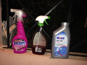 Materials i used for cleaning and oiling the bike